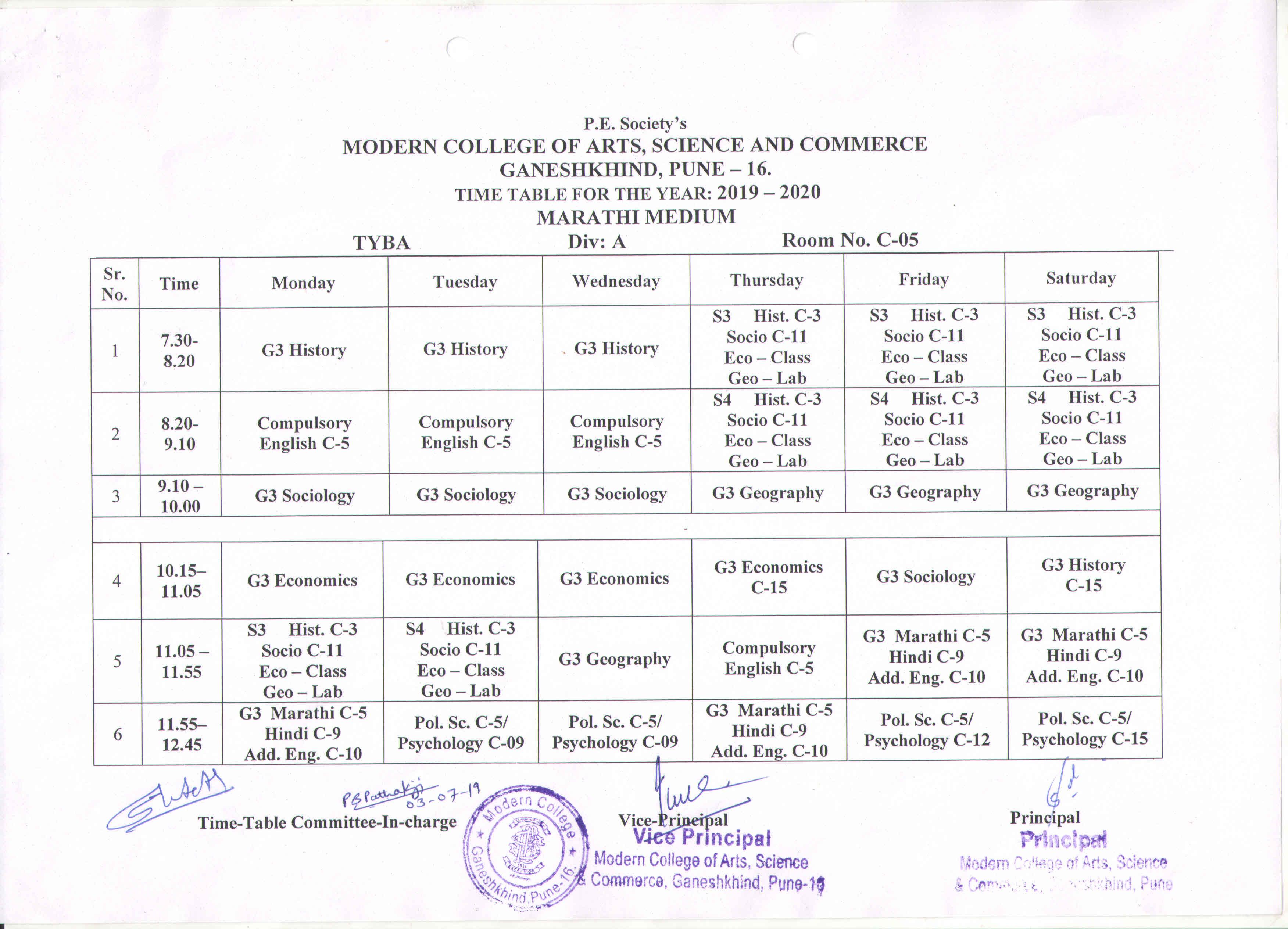 Modern College Of Arts, Science & Commerce Ganeshkhind  Pune